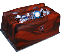 Treasure Chest Groom's Cake