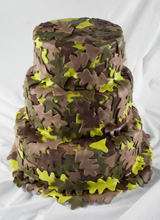 Camo Leaves Wedding Cake