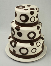 Chocolate Circles Wedding Cake