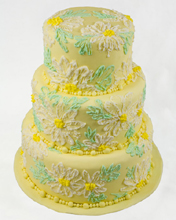 Yellow Daisies Wedding Cake