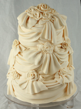 Drapey Roses Wedding Cake