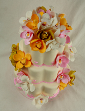 Petal Orchids Wedding Cake