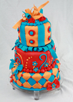 Funky Birthday Cake
