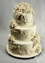 Grapes & Roses Wedding Cake
