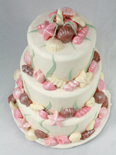 Chocolate Shells Wedding Cake