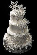 Snowflakes Wedding Cake